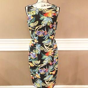 Maggy London 100% Silk Sheath Dress, Size 6